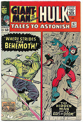 TALES TO ASTONISH #67 VF+ 8.5 High Grade Ant-Man, Giant-Man and Hulk! NICE!