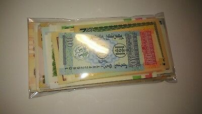 100 Different World Banknotes All Uncirculated, Free Shipping