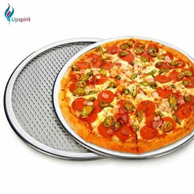 Seamless Aluminum Pizza Screen Baking Tray Metal Net  Bakeware Kitchen Tools Piz