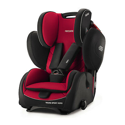 Recaro Young Sport Hero Racing Red Child Seat (9-36 kg) (19-79 lbs) SAFEST