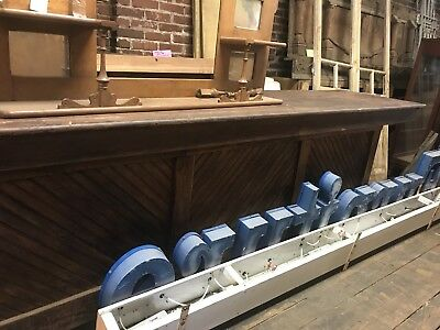 """18'6"""" Vintage General Store Counter, Beadboard Store Counter ,Front Bar"""