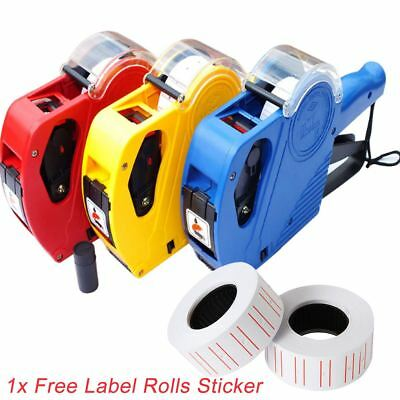 New Price Tag Gun Pricing Labeller +1 Label Roll Sticker Spare Ink Shop Retail