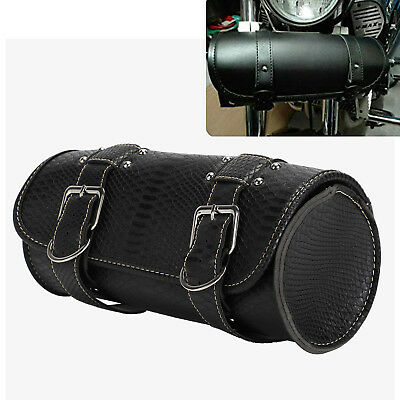 Motorcycle Tool Roll Leather Saddle Bag for Harley Davidson Sportster 883 1200