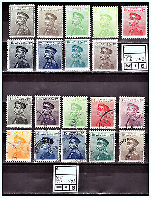 """SERBIEN - SERBIA: 1911 Mi: RS-95-103 """"King Peter I"""" MH / Used Part of Set"""