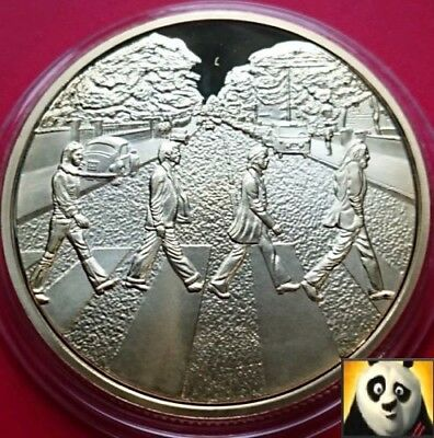 The Beatles Abbey Road Commemorative Gold Plated UNC Crown Size Coin Medal *