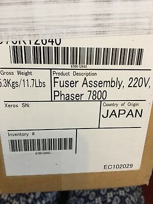 Xerox Phaser 7800 Fuser Unit Assy 220V 115R00074 676K12640 BRAND NEW FREE POST