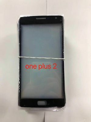 Black Front Screen Glass Panel Lens Replacement For One plus 2 OnePlus 2 A2001