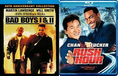 Bad Boys I & II / Rush Hour [Blu-ray] - 3 movie set (Buddy Cop Films)