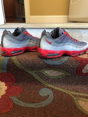 info for 35484 f08e1 95 2013 Nike Air Max 95 Sz 12 Grey Red- vintage cool