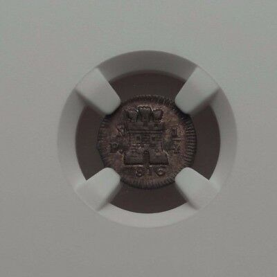 Spain Colombia Popayan mint 1/4 Real 1816 NGC VF 35