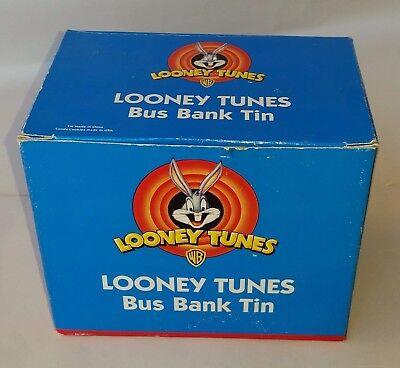 Looney tunes bus bank tin--new in box