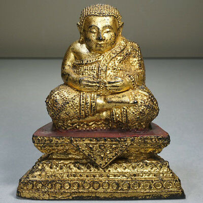Buddha Statue Old Thailand Rattanakosin Dynasty 1800 - 1900's Antique RARE