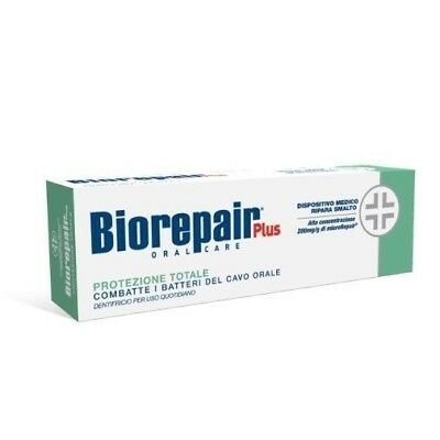 Dentifricio Biorepair plus protezione totale 75ml combatte i batteri cavo orale