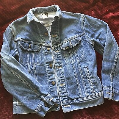 90s Vintage Lee Riders Denim Jacket Boys  Size 18 Blue Jean