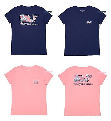 "NWT Vineyard Vines Women SS Graphic Pocket Crew TEE ""CRAB SHELL WHALE FILL"""