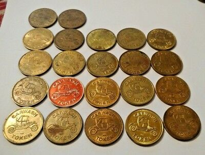 "32 Vintage Car Wash Token Depicts Old Car .983"" Diameter No Cash Value Model T"