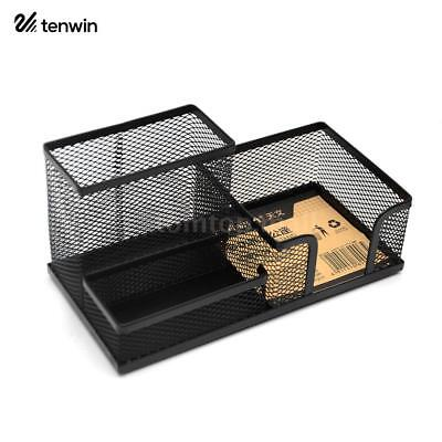 Pencil Pen Holder Storage Desktop Organizer Tray Box Drawer Office Supplies T2C4