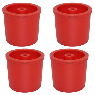 4x Durable Reusable Plastic Filters Refillable Coffee Capsules Pod Cup Red