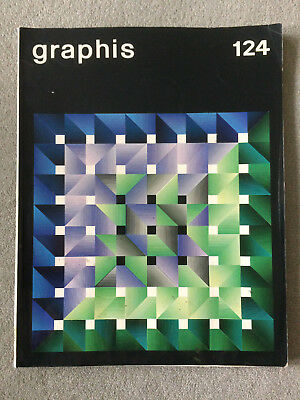 Graphis magazine Issue 124: 1966: Used - Cond average/tsome water damage/REDUCED