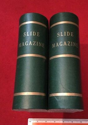 Vintage Slide Storage,faux  Books X2.praximat Holders. Stores 216 Slides