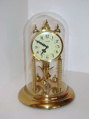Vintage German Heirloom Gold Mantle Clock S. Haller Simonswald Germany Ann.