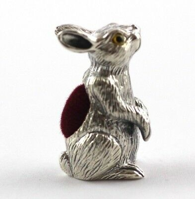 Collectable Victorian Style Bunny Rabbit Hare Pin Cushion Sterling 925