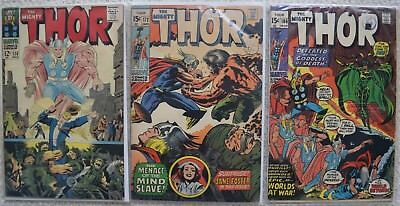 The Mighty Thor #138, 172, 186. *3 issues*. Please see description.
