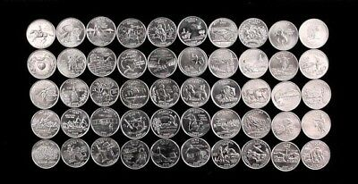 1999-2008 50-coin 50 State Quarter Complete Set -Philadelphia Mint- Uncirculated