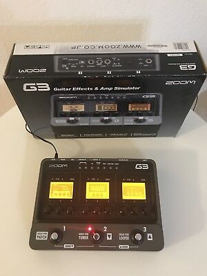 Zoom G3 Modular Effects Pedal Incredible Sounds Multi Fx Amp-Sim Mic Usb Deal