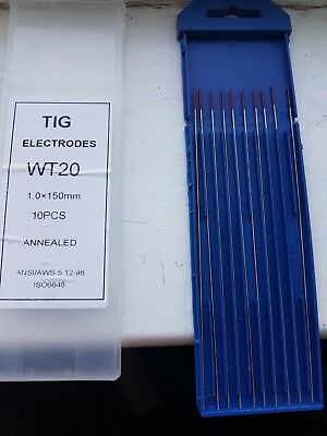 1mm x 150mm Red Tungsten 2% Th Thoriated DC Tig Welding Electrode