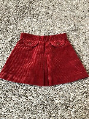 Janie and Jack Baby/Toddler Girls Red Elastic Waist Skirt Size 12-18 Months