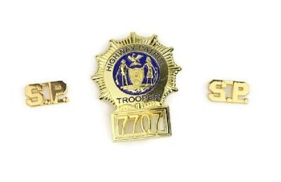 SUPER TROOPERS BADGE COLLAR PIN SET of 3 Props