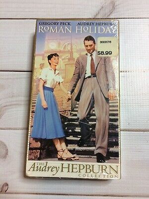 Roman Holiday VHS Tape Gregory Peck, Audrey Hepburn Classic Movie Musical New