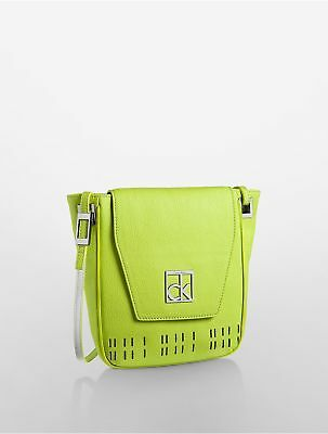 2e26687d6c NWT Calvin Klein Hailey City Perforated Crossbody Bag, Green =Ebay SALE=