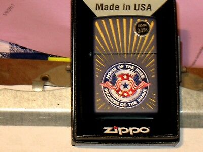 A New USA Pa Windproof Zippo Lighter 07207 Home of the Free Because of the Brave