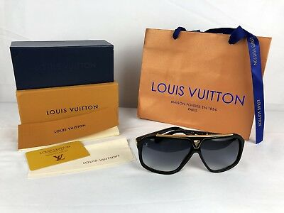 06feb42fd4 LOUIS VUITTON LV Evidence Sunglasses Z0350W Black   Gold Sunglasses -   157.50