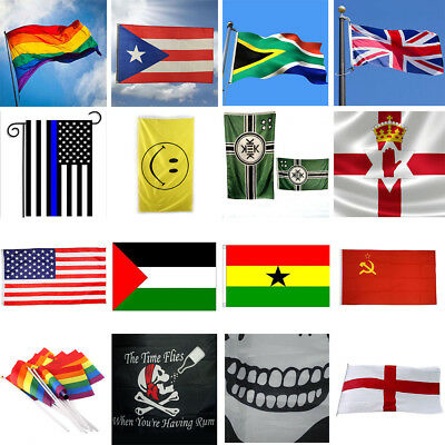 New Design 3'x5' FT National Flag World Country Flags Polyester America Flag Lot