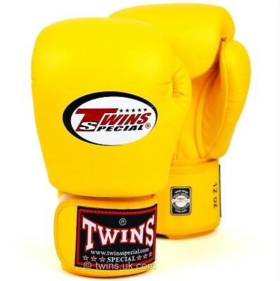 Twins Special Bgvl-3 Yellow 12oz Muay Thai/ Boxing Gloves