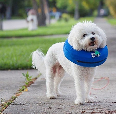 Protective Inflatable Collar for Dogs& Cats Soft Pet Recovery Collar (S:22X23CM)