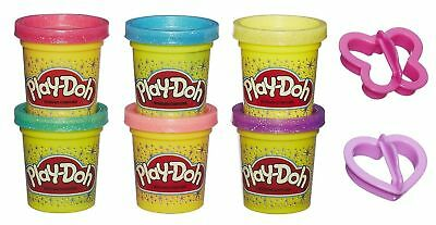 ,Play-Doh Sparkle Collection Compound Hasbro & 2no cutters TRUSTED UK SELLER,