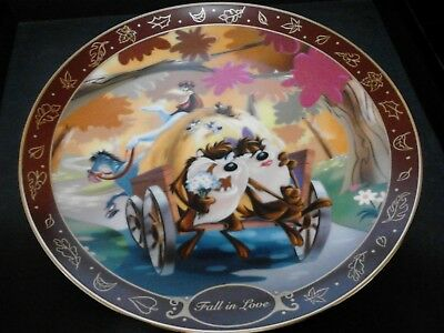 Collectible Plate: Warner Bros: TazWith She DevilFalling In Love