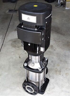 """Grundfos CR15-3 A-FGJ-G-E-HQQE, 3ph, 4kw, DN65 2.5"""" In/Out, 3525 RPM Multi-Stage"""
