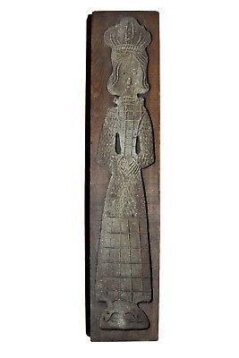 """BIG, 29.5"""" Tall, Dutch Antique, Hand Carved Speculaas / Springerle Cookie Mold"""