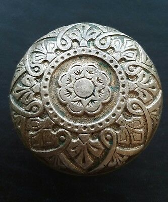 Russell Erwin Antique Ornate Brass Bronze Door Knob - Victorian Eastlake