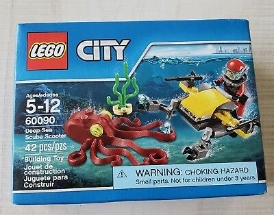 LEGO CITY 60090 DEEP SEA SCUBA SCOOTER W/ MINIFIG DIVER & OCTOPUS Factory Sealed