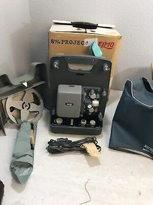 Elmo FP 8mm Variable Speed Film Projector NOS In original Box W/ Manual & More