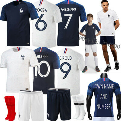 2018 New Football Team Suit Kid Adults Soccer Home Away Kit Short Sleeves Jersey