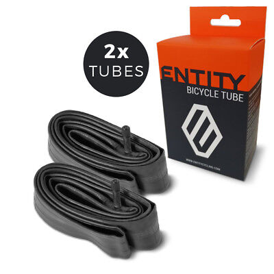 2x Entity Inner Tube 26x1.5-2.5 Schrader Valve for 26 inch Mountain Bike MTB