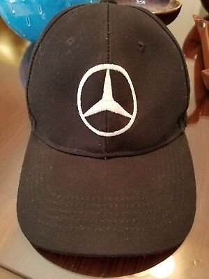Mercedes Benz SF Black Cap w Embroidered Logo and Velcro Adjustable Trucker  Hat 27671e56983b