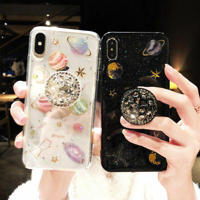 Shockproof Bling Cute Star Clear Case Soft Rubber Cover For iPhone XS Max 8 7 XR